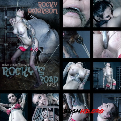 Rockys Road Part 1 - Rocky has to squat or choke! - Rocky Emerson - REAL TIME BONDAGE - 2019 - HD
