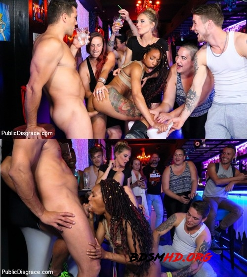 Ramon Nomar, Nikki Darling Surrenders Her Holes In Spanish Nightclub - Mona Wales, Nikki Darling - PUBLIC DISGRACE - 2019 - HD