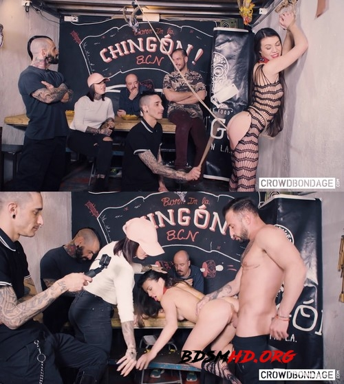 BDSM group session with obedient Tiffany Doll - CROWD BONDAGE - 2019 - FullHD