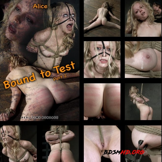 Bound to Test 2, The reddening of Alice's skin begins. - Alice - REAL TIME BONDAGE - 2019 - HD
