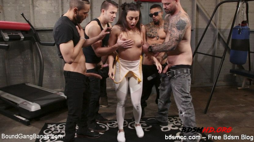 Fire scene BDSM Spanking Hard - Cyrus King, Whitney Wright, Eddie Jaye, Cody Steele, Rob Piper, Donny Sins - BoundGangBangs - 2020 - HD