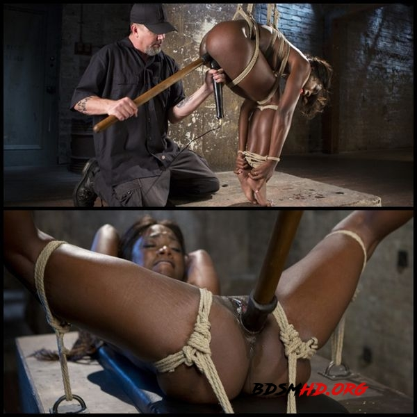 Stunning Ebony Slut in Brutal Bondage and Tormented - 2016 - HD