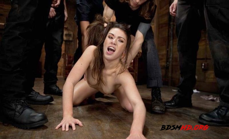 Gorgeous French Girl Taken Down in Rough Gangbang - Tiffany Doll - BoundGangBangs - 2012 - HD
