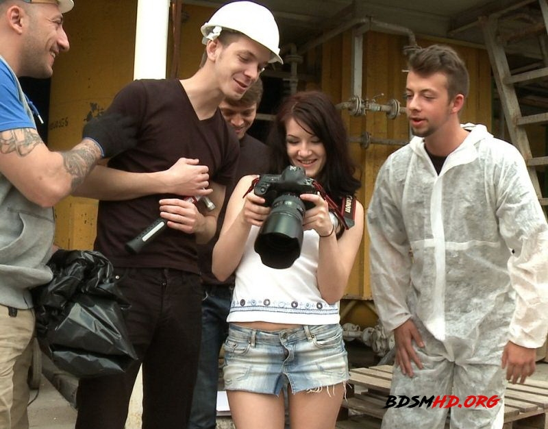 The Perfect Picture - Tiny Russian Girl Ganbanged, Two Dicks in Ass - Lina - BoundGangBangs - 2012 - HD
