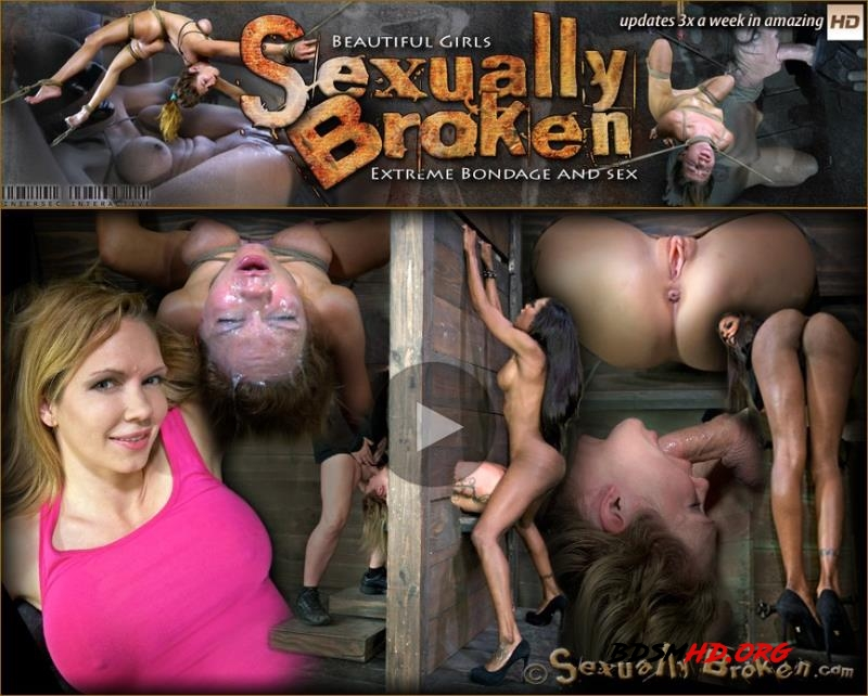 Skinny Blond with HUGE tits, is double fucked, made to squirt and throat fucked out of her mind - Rain DeGrey, Natassia Dreams - SexuallyBroken - 2013 - HD