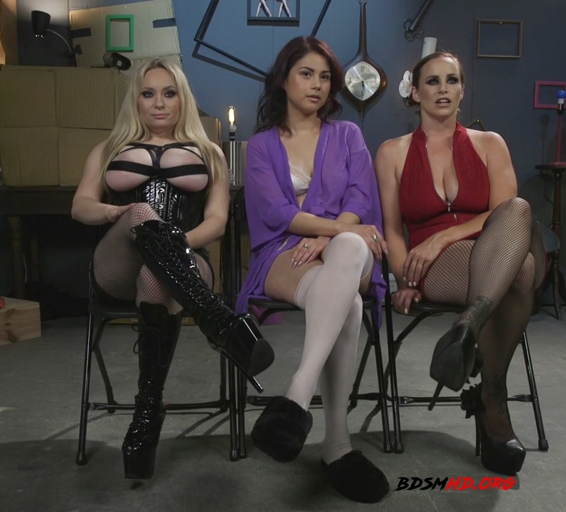 Dominating Dreams: First Time Kink Model is Tag-Teamed by Horny Lesbos - Aiden Starr, Bella Rossi, Penelope Reed - Kink - 2017 - HD
