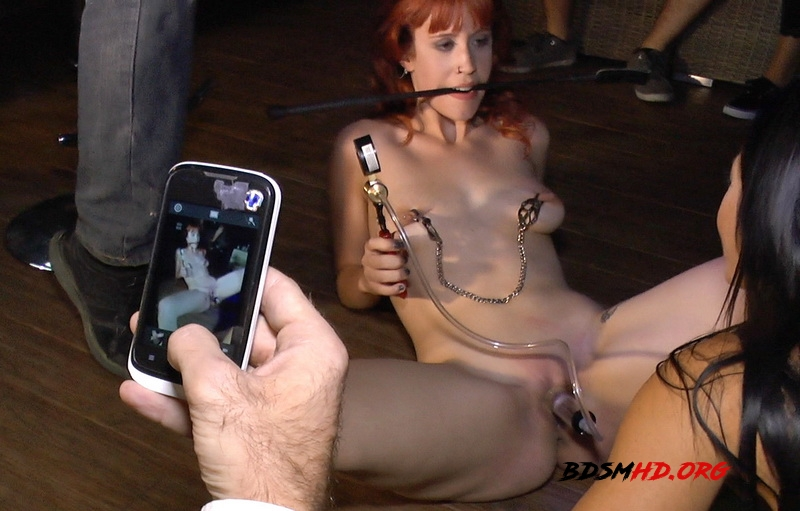 Redheaded slut beautifully disgraced on streets of Madrid - Lilyan Red, Sandra Romain, Steve Holmes - Kink - 2014 - SD