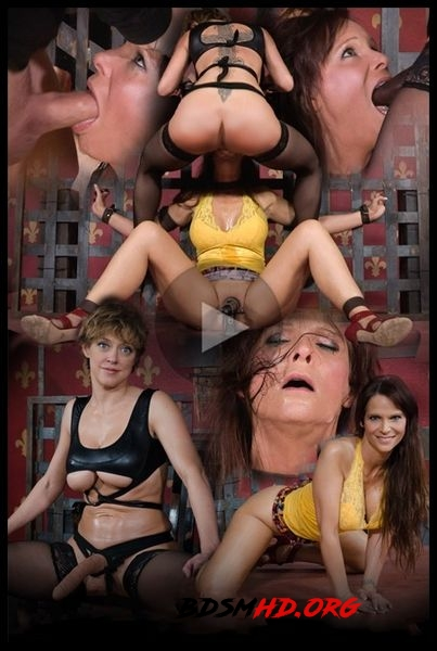 Hot Cougar is bound, face fucked and made to cum over and over. Brutal deep throat, massive orgasms! - 2016 - HD
