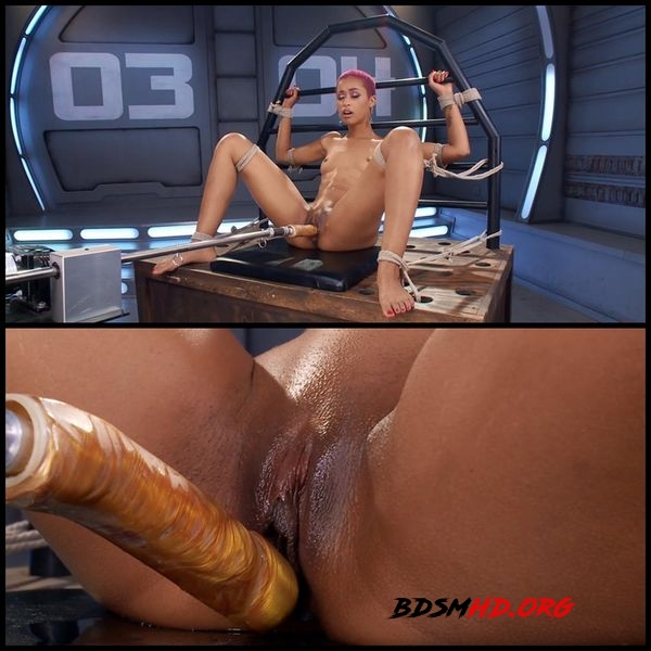 Skin Diamond is machine fucked and squirts in bondage - 2020 - HD