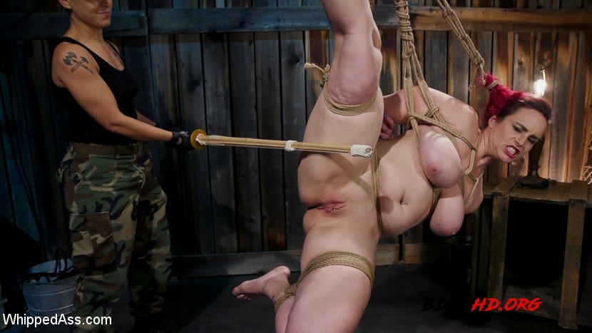 Hard Fucking in the Pussy of a Beautiful woman BDSM - Bella Rossi, Fox Acecaria - WhippedAss - 2020 - HD