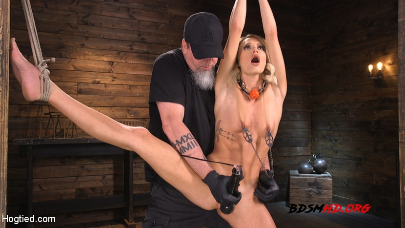 Hard Fucked in the Pussy BDSM - Emma Hix - Hogtied - 2020 - HD